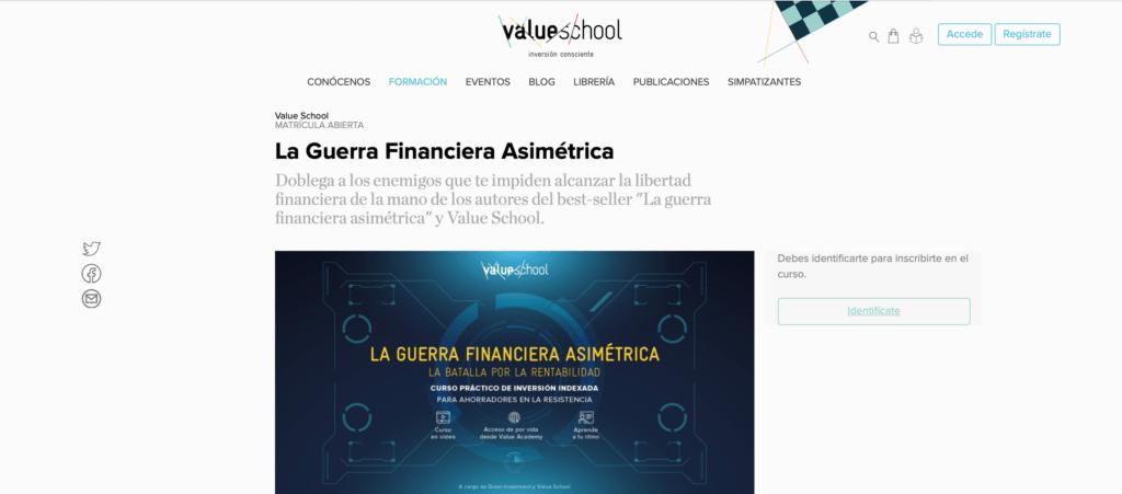 Curso de la guerra financiera asimétrica de Value School
