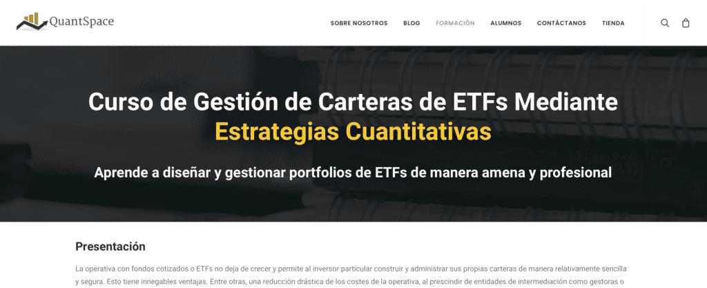 Curso de gestión de carteras ETFs mediante estrategias cuantitativas