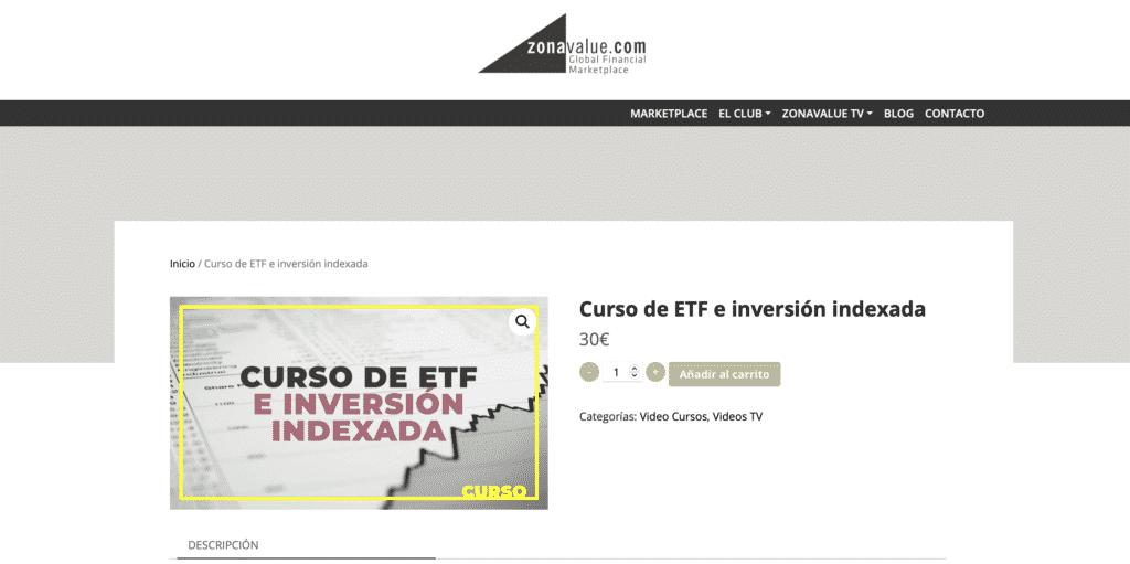 Curso de inversión de inversión indexada de Zona Value