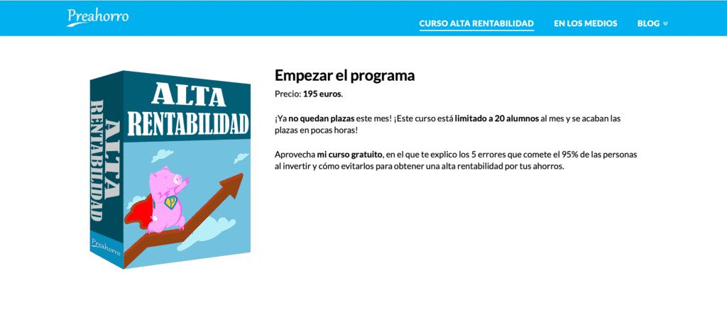 Curso de finanzas personales e inversión de Luis Pita de la web Preahorro