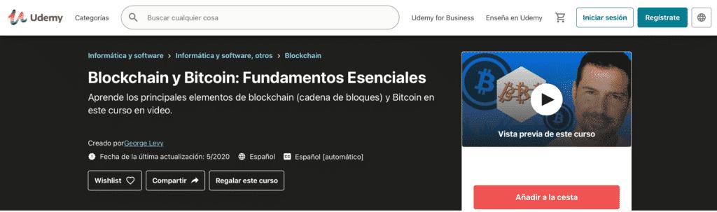 Imagen del curso de Blockchain de Udemy