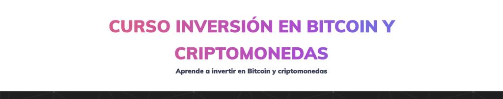 Curso para aprender a invertir en criptomonedas y bitcoin